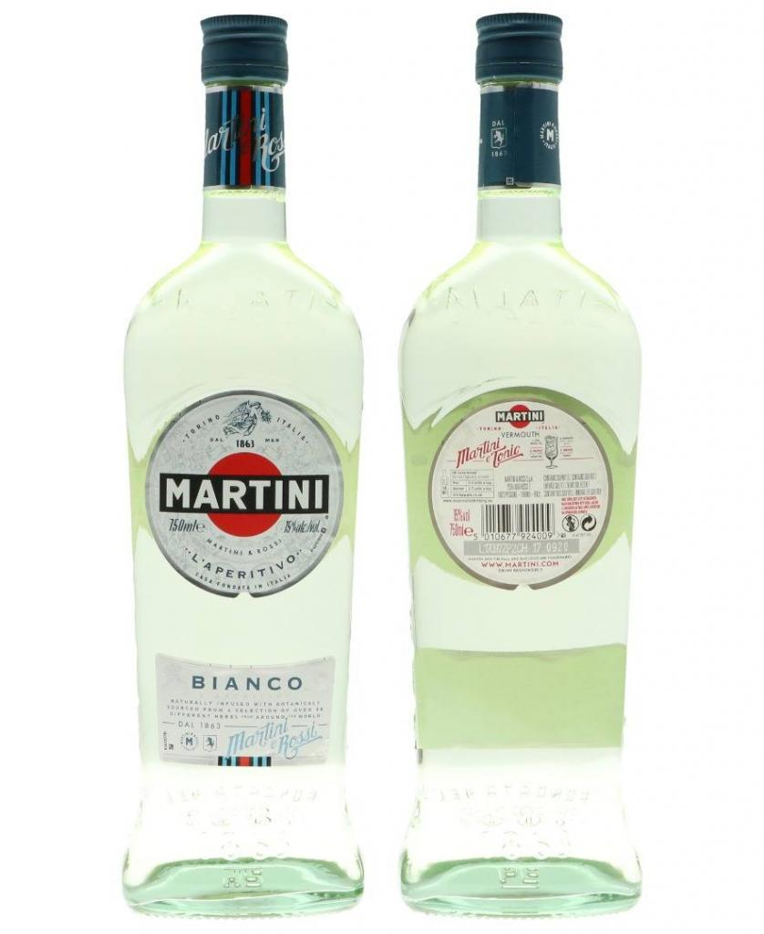 Martini Bianco 75cl 15 % vol 6,49€