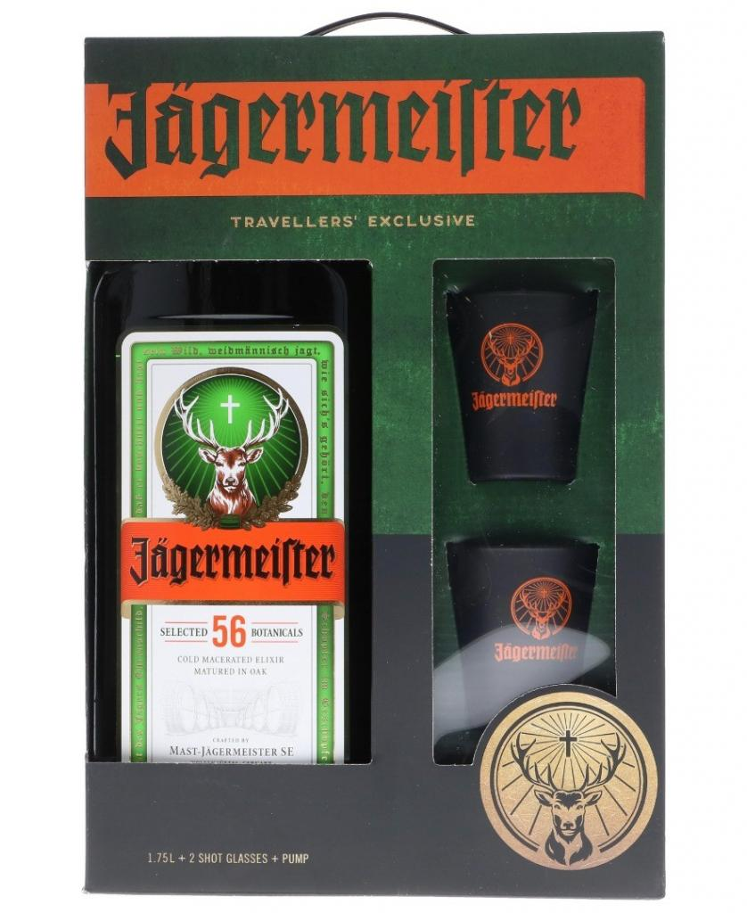 Jägermeister Party Pack + 2 Verres + Pump 175cl 35 % vol 27,95€