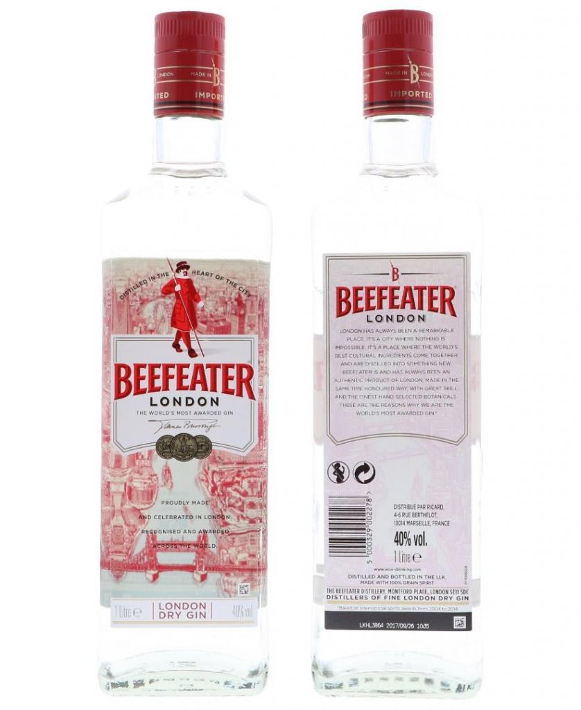 Beefeater 100cl 40 % vol 15,90€