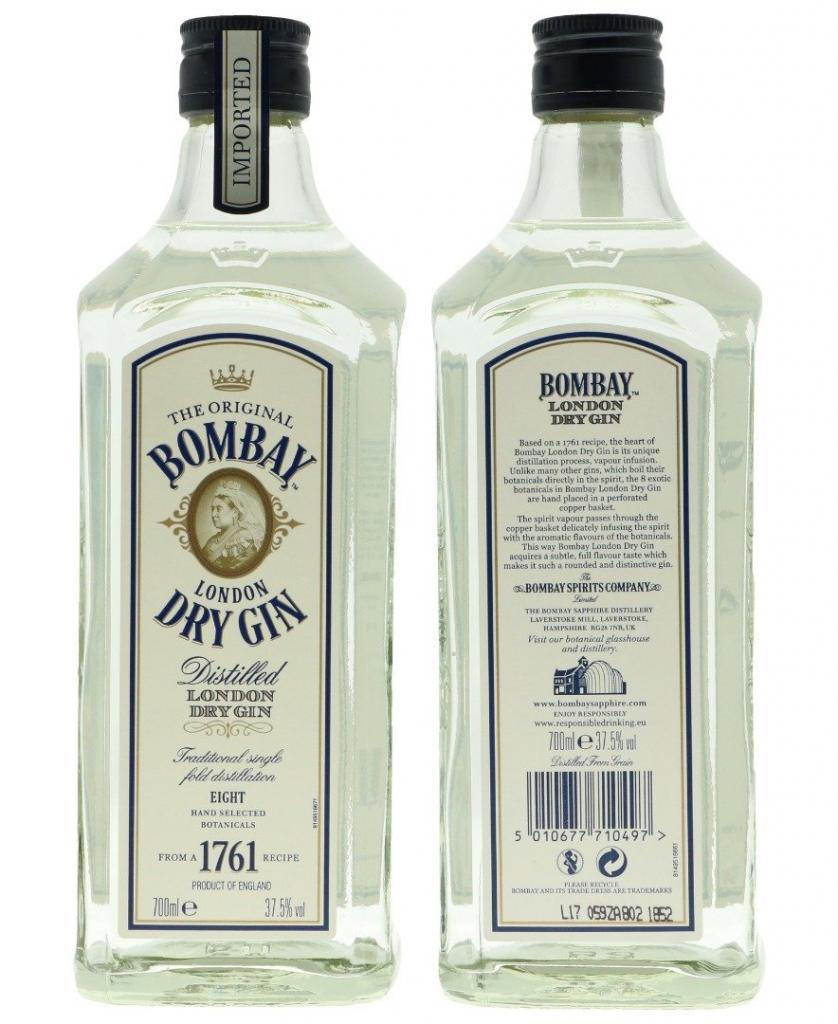 Bombay London Dry Gin 70cl 40 % vol 11,60€