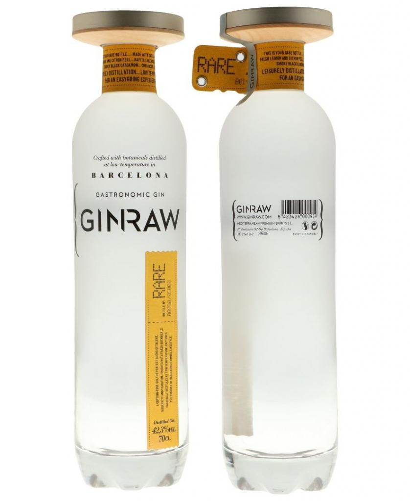 Ginraw Barcelona Gastronomic Gin 70cl 42.3 % vol 41,50€