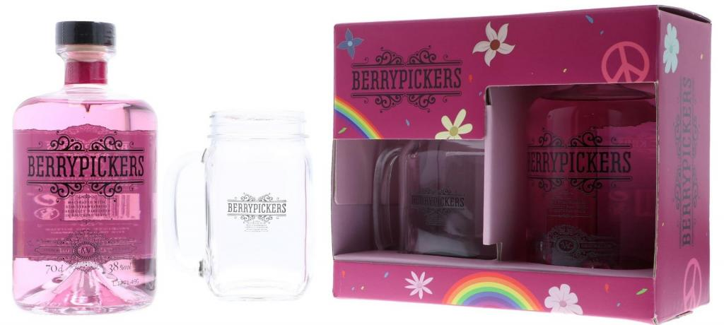 Berry Pickers Strawberry Gin With Jar + Gb 70cl 38 % vol 19,95€