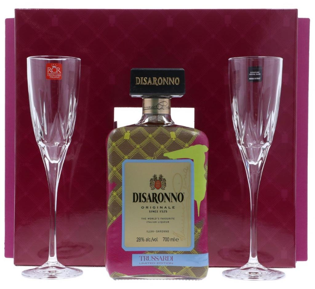 Disaronno Trussardi Gift Pack 70cl 28 % vol 14,95€