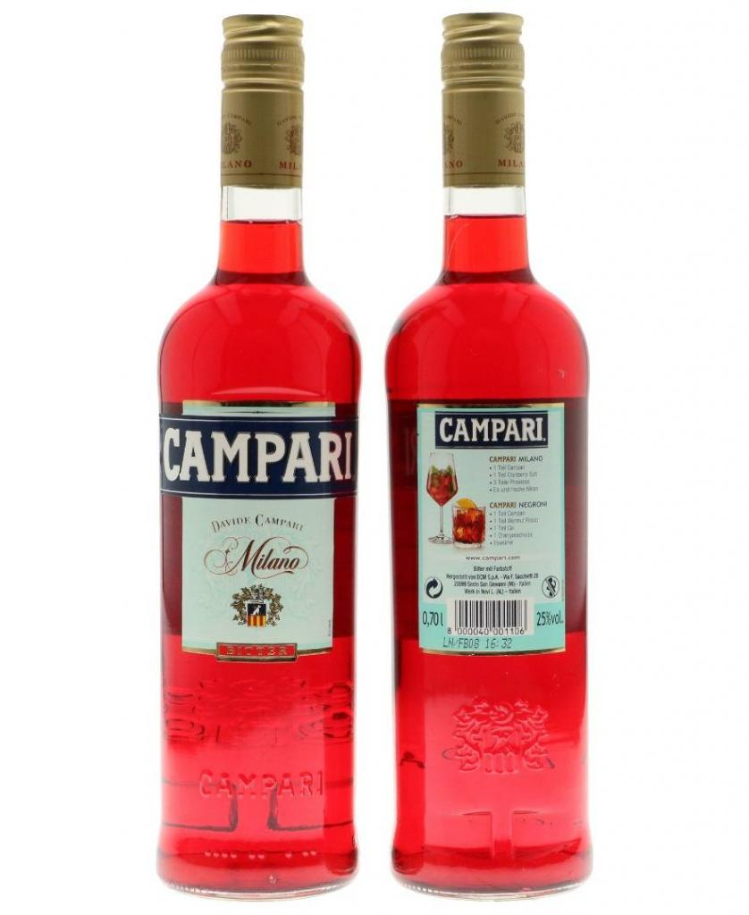 Campari 70cl 25 % vol 11,95€