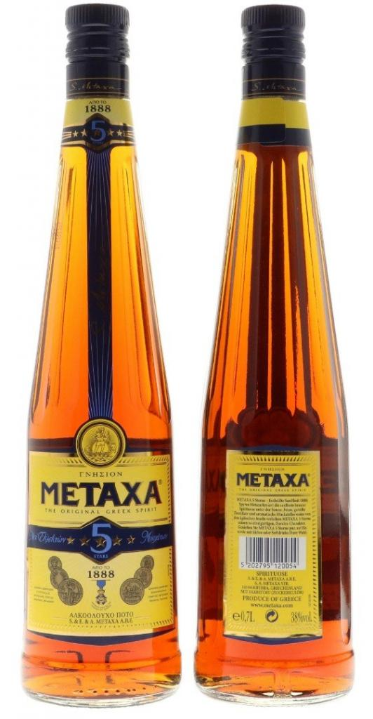 Metaxa 5 Stars 70cl 38 % vol 9,95€